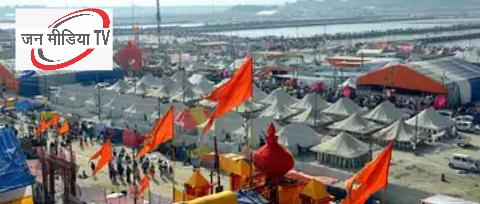 Prayagraj Maghmela 2021 सेक्टर 4 के शिविर गंगा में कटान से खतरे में