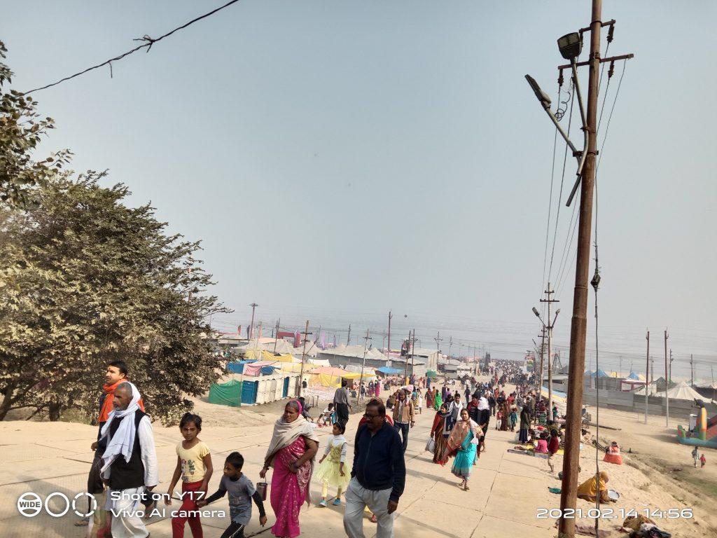 Magh Mela Prayagraj बसंत पंचमी पर लाखों लोग लगाई पुण्य की डुबकी