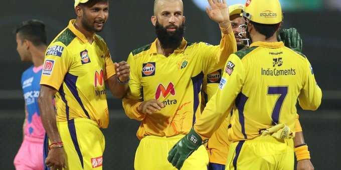 चेन्नई सुपर किंग्स (CSK) ने राजस्थान रॉयल्स (RR) को 45 रन से हराया