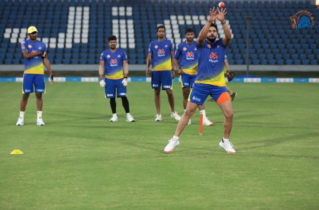 CSK के प्लेयर्स ने IPL 2021 के लिए प्रैक्टिस शुरू की