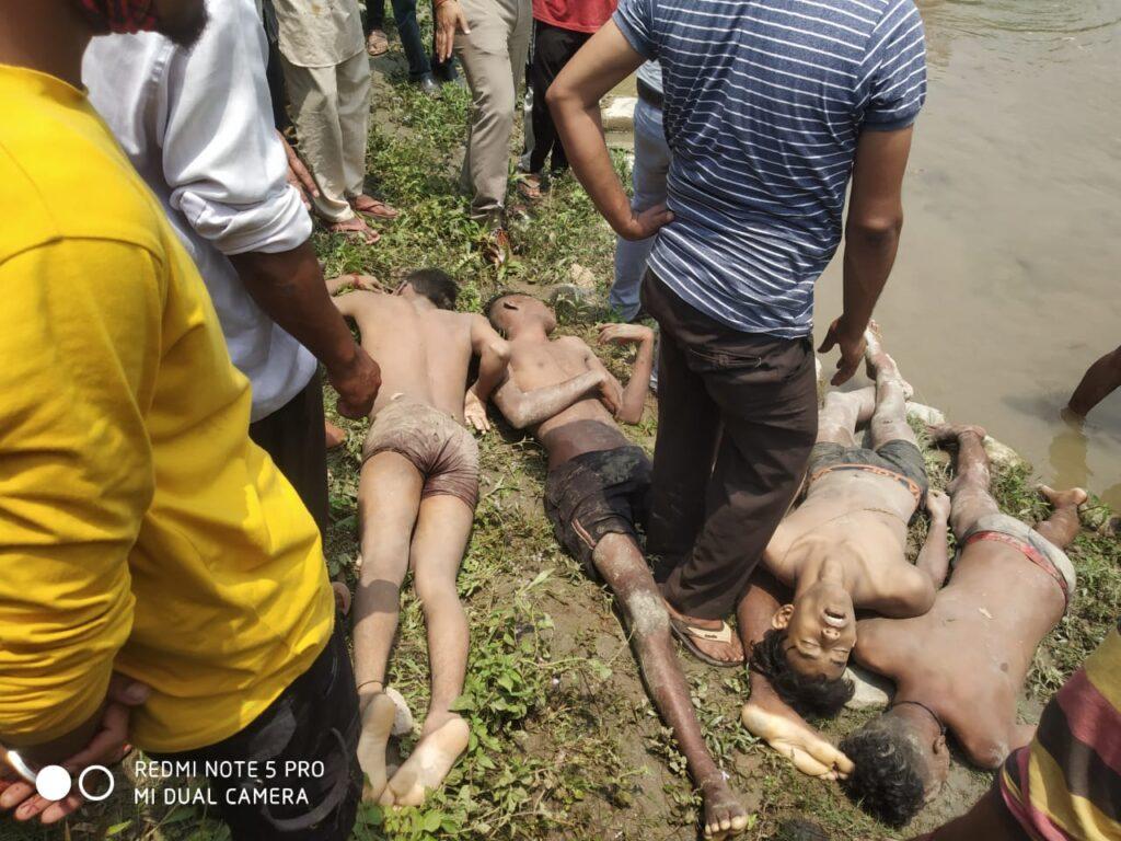 सेराघाट के पास सरयू नदी मे नहाते समय गणाई क्षेत्र के 5 बच्चो की डूबने से मौत